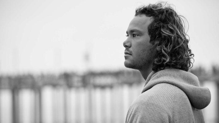Surfer Jordy Smith bw portrait