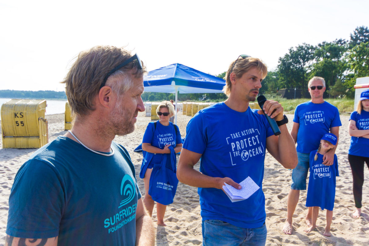 Florian Jung beach clean up intro speach