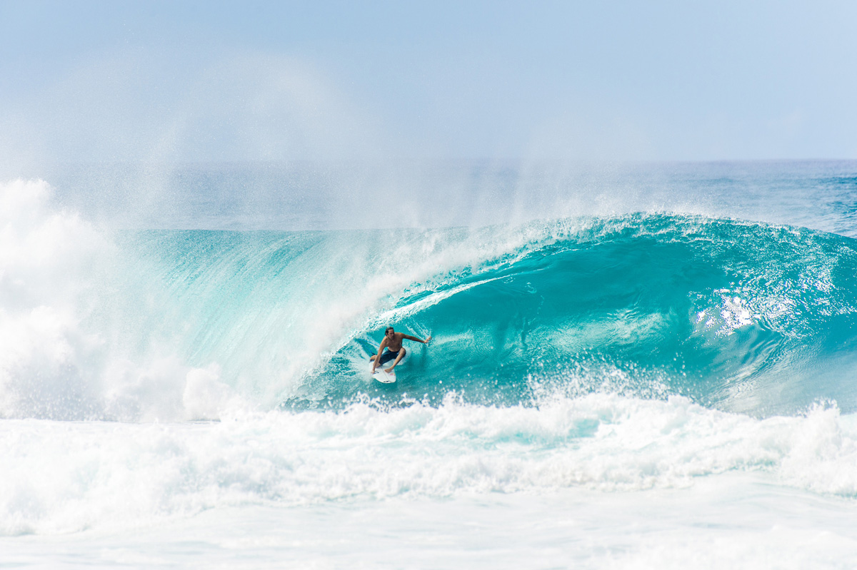 Jordy Smith surfing Pipeline