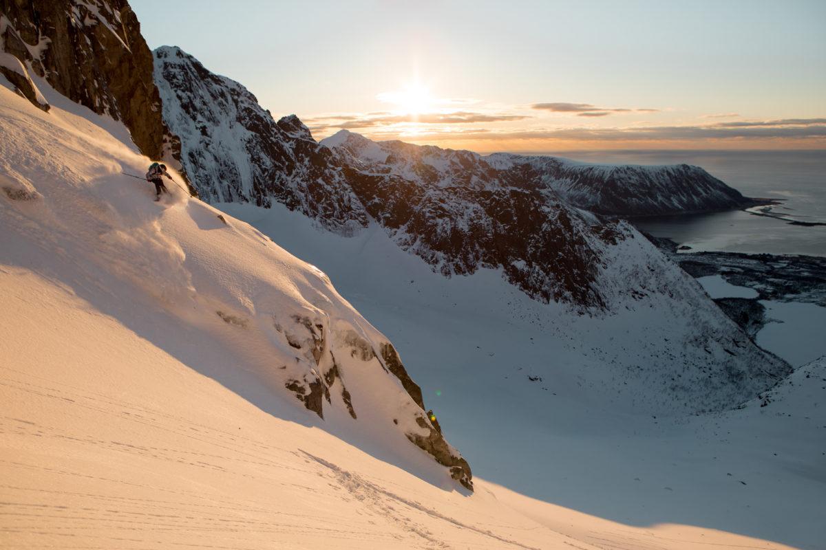 Lena Stoffel skiing in Norway