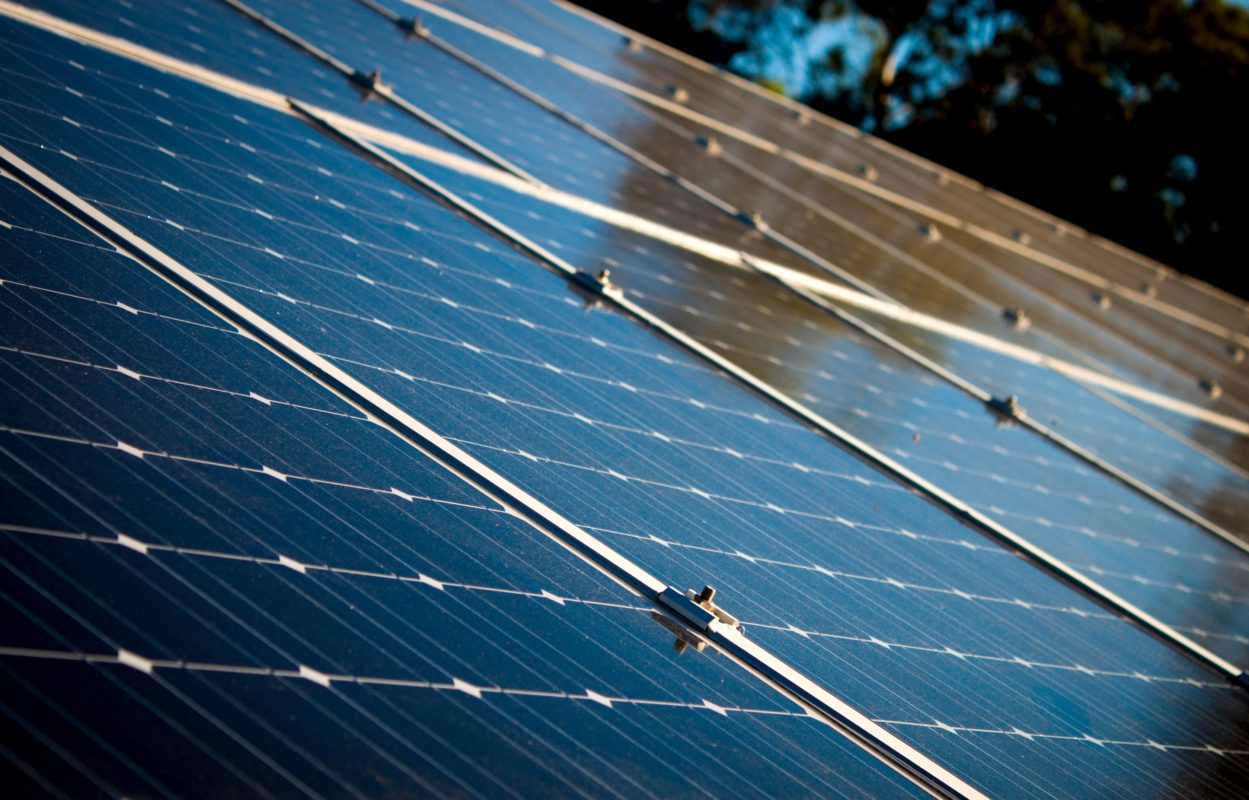 solar panels photovoltaic green energy