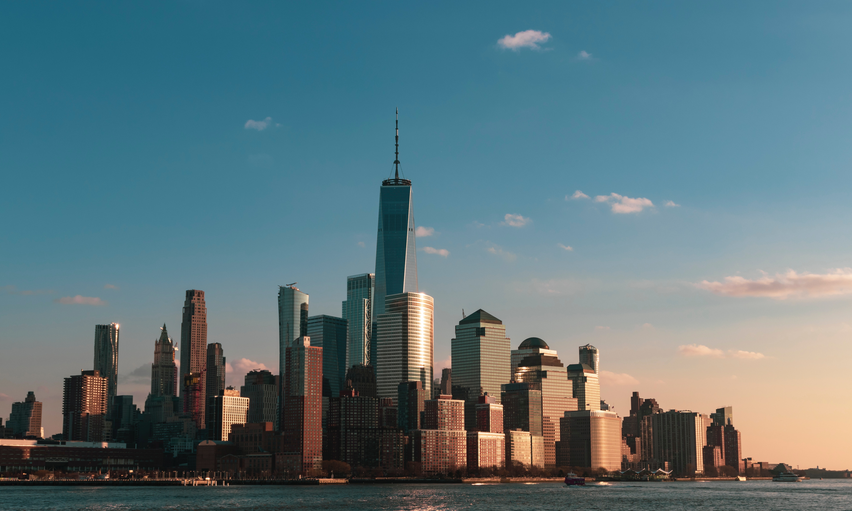 New York skyline during golden hour