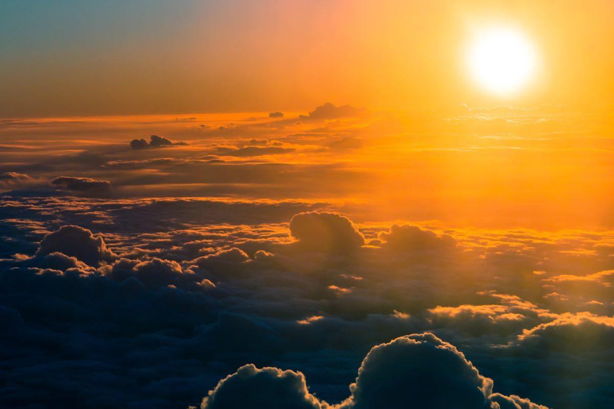 Sunshine above clouds